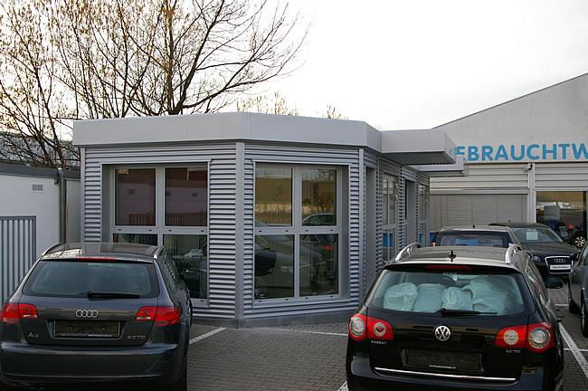 verkaufscontainer verkaufspavillon gebrauchtwagenpavillon b ropavillon hacobau gmbh. Black Bedroom Furniture Sets. Home Design Ideas