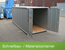 Schnellbaucontainer - made in Germany