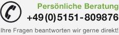 Persönliche Beratung: +49(0)5151-809876