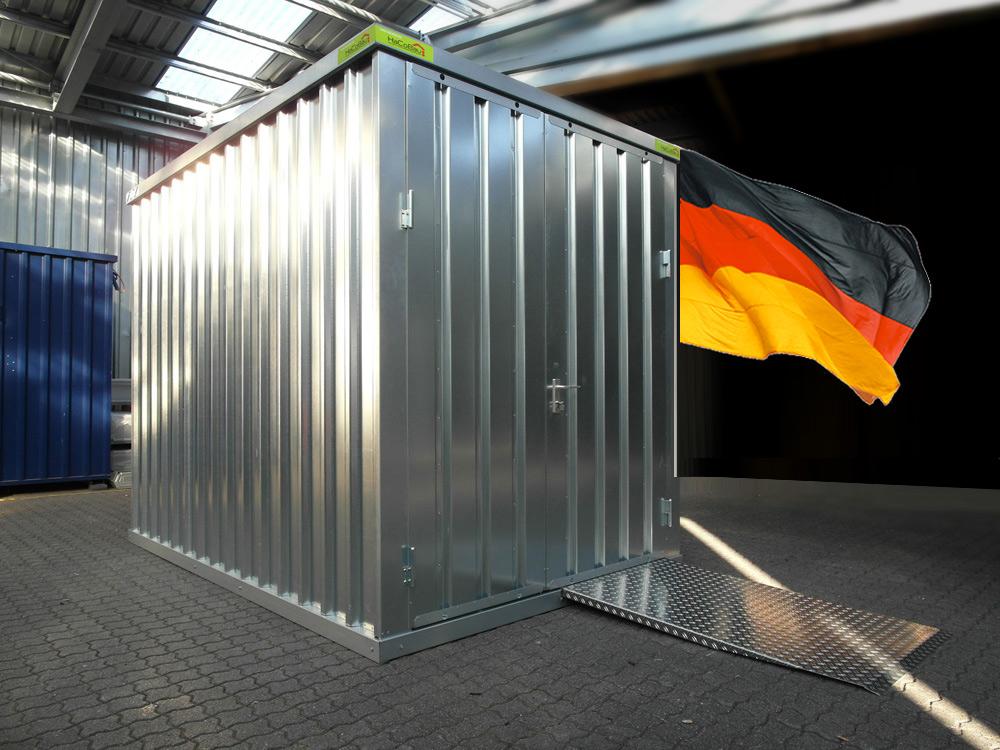 lagercontainer kaufen lagercontainer schnellbaucontainer produkte hacobau hallen und. Black Bedroom Furniture Sets. Home Design Ideas