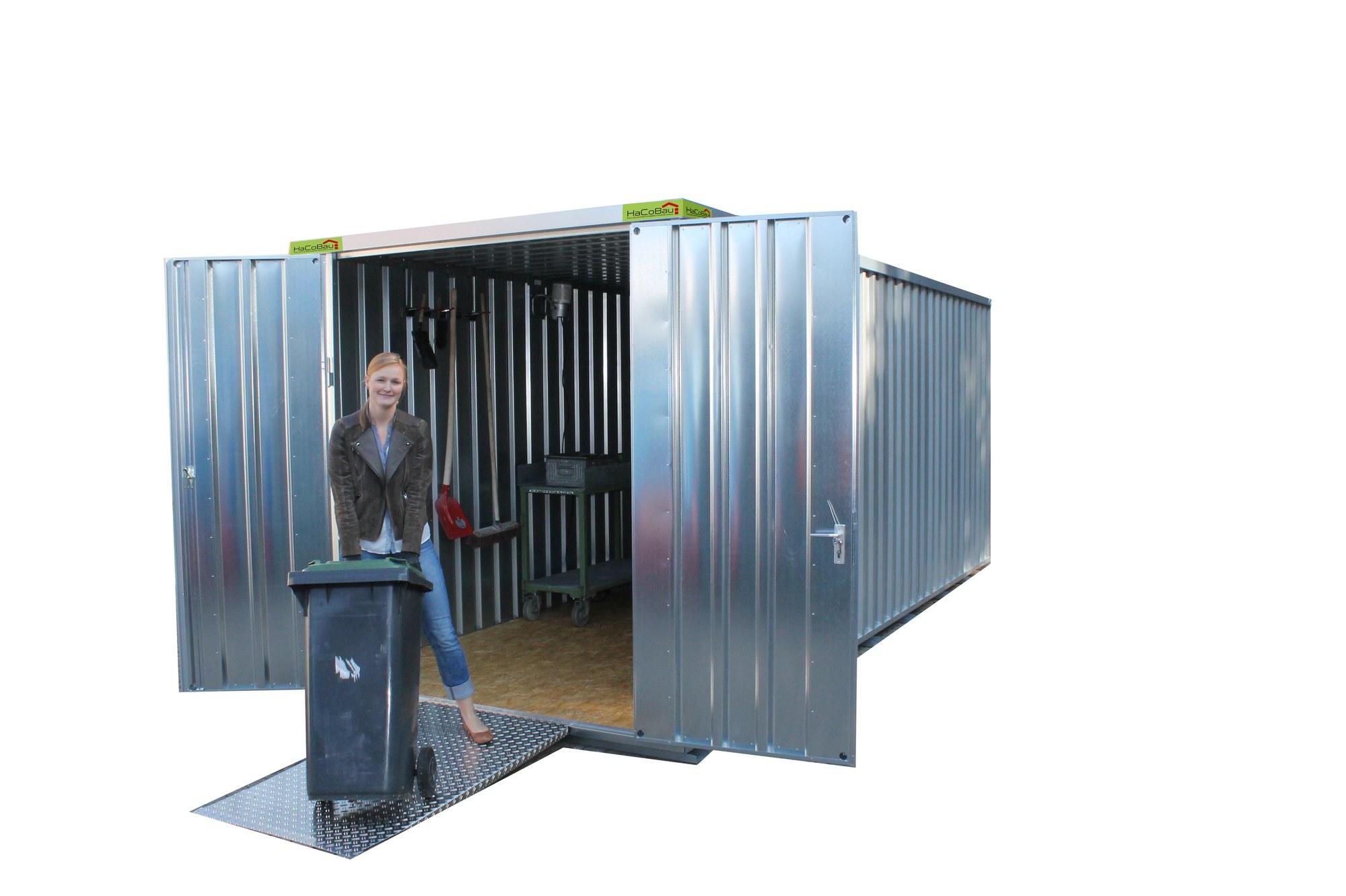 lagercontainer kaufen lagercontainer schnellbaucontainer produkte hacobau hallen und