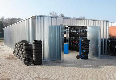 Lagerhallen Fertighallen Leichtbauhallen günstig bauen zur Reifeneinlagerung
