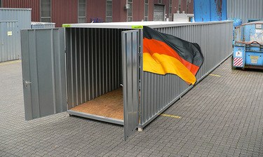 Materialcontainer 12m x 2m verzinkt