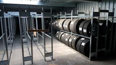 Regale zur Reifenlagerung