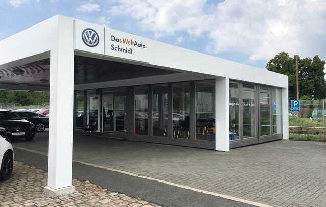 Verkaufspavillon für Gebrauchtwagenplätze